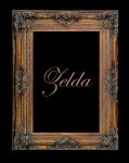 7 1/2  GOLD PIERCED DECORATIVE (SWEPT) FRAME  ZELDA