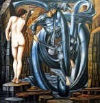 EDWARD BURNE-JONES PERSEUS & ANDROMEDA 32X32  MUSEUM QUALITY OIL PAINTING