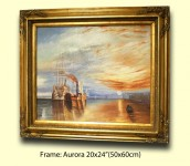 4  ORNATE GOLD (SWEPT) FRAME  AURORA