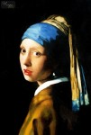 JAN VERMEER - WOMAN WITH A PEARL EARRING 24x36   OIL  REPRODUCTION IN HIGH QUALITY