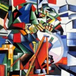 KAZIMIR MALEVICH - THE KNIFEGRINDER 24X24   OIL PAINTING