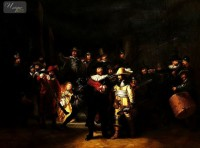 REMBRANDT - THE NIGHT WATCH  36X48   OIL PAINTING REPRODUCTION MUSEUM QUALITY