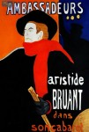 ARISTIDE BRUANT - MAN WITH RED SCARF  24X36   OIL PAINTING REPRODUCTION