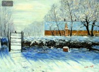 CLAUDE MONET - THE MAGPIE  36X48   OIL PAINTING REPRODUCTION