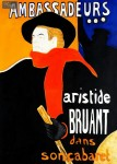 ARISTIDE BRUANT - MAN WITH RED SCARF  32X44   OIL PAINTING REPRODUCTION