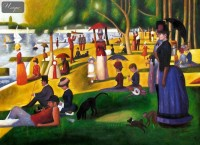 GEORGES SEURAT - SUNDAY AFTERNOON ON LA GRANDE JATTE 32X44   OIL PAINTING