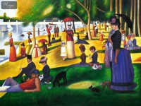 GEORGES SEURAT - SUNDAY AFTERNOON ON LA GRANDE JATTE 36X48   OIL PAINTING