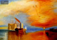 WILLIAM TURNER - THE FIGHTING TEMERAIRE  32X44   OIL PAINTING REPRODUCTION