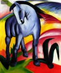 FRANZ MARC - BLUE HORSE 20X24   OIL PAINTING REPRODUCTION BY HAND