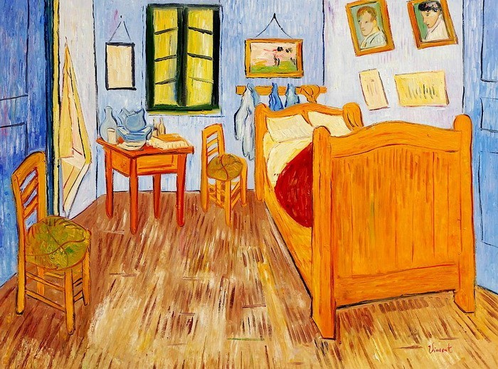 details about vincent van gogh bedroom in arles 36x48 oil painting