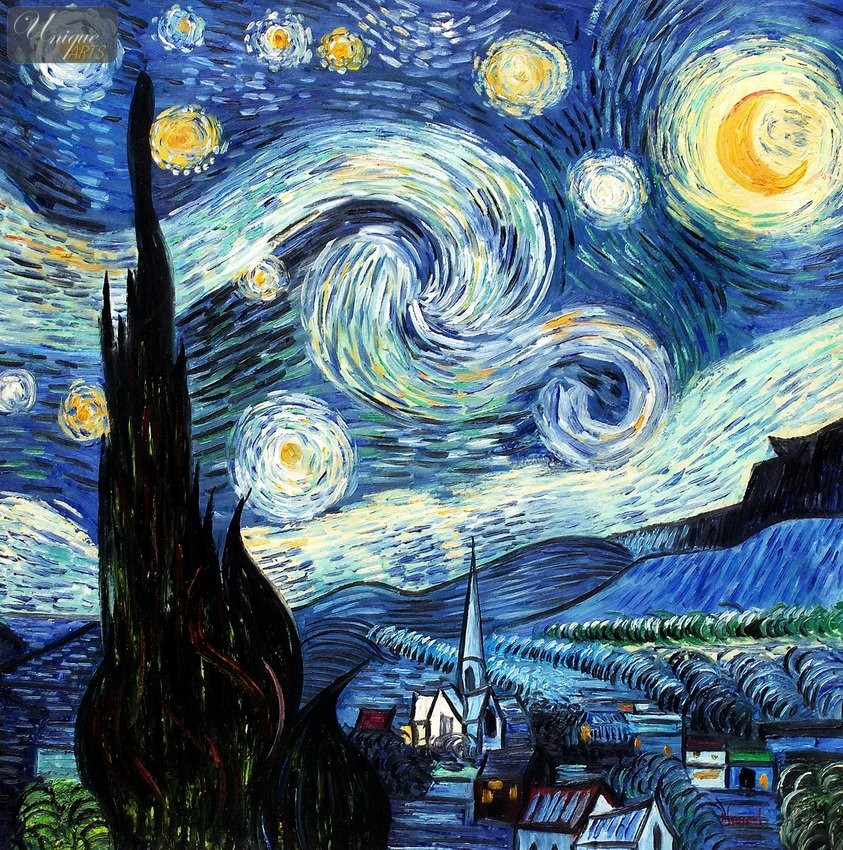 starry night by vincent van gogh Van gogh starry night reproduction for sale la nuit étoilée (sternennacht) is oil painting the starry night over the rhone by vincent van gogh, see original price analysis and location of 梵高《星夜》或《星月夜》 as well as meaning of song lyrics.