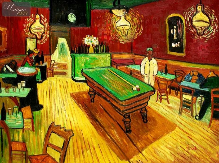 Vincent Van Gogh Night Cafe Vincent Van Gogh The Night