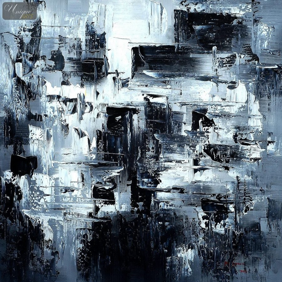 Oil paintings museum quality reproductions modern art for White and black paintings