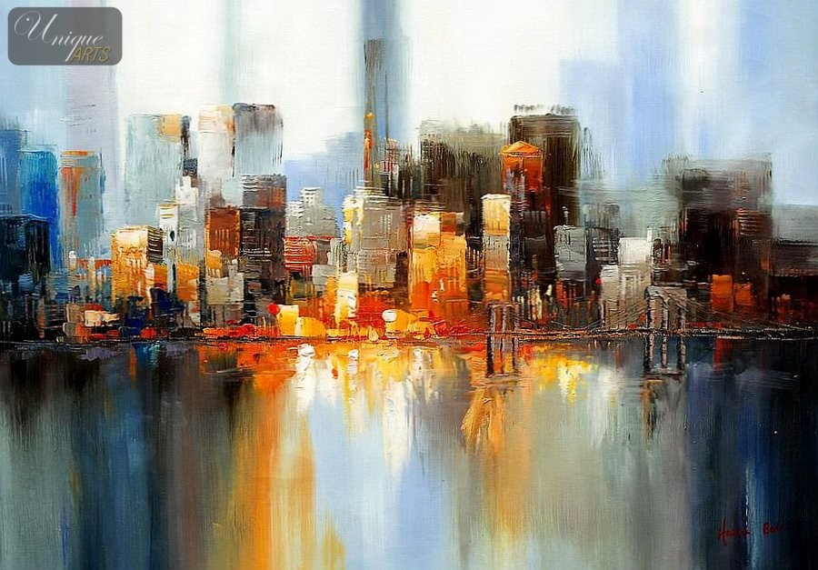 Unique arts webshop for New york skyline painting