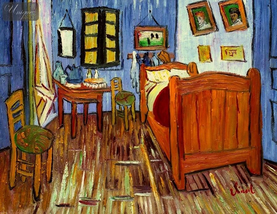 vincent van gogh bedroom in arles 12x16 reproduction oil
