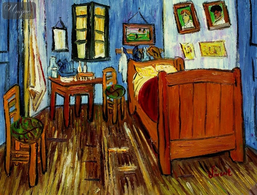 Vincent van gogh bedroom in arles 12x16 reproduction oil for 12x16 bedroom