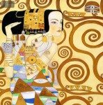 Gustav Klimt - The Waiting 32X32   Oil Painting