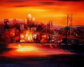 "MODERN ART - GOLDEN GATE BRIDGE AT SUNSET 16X20 "" OIL PAINTING – image 2"