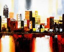 "Abstract - New York Downtown  20X24 "" Oil Painting – image 2"