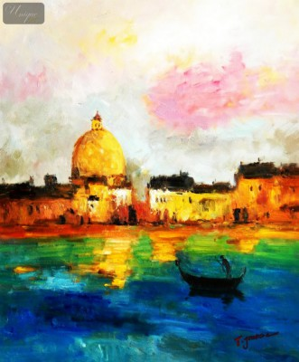 "Modern Art - Venice Grand Canal 20X24 "" Oil Painting – image 1"