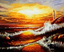 "Surf At Sunset 20X24 "" Oil Painting  – image 2"
