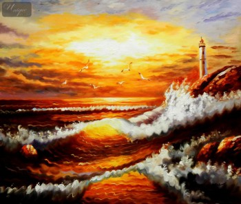 "Surf At Sunset 20X24 "" Oil Painting  – image 1"