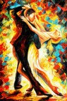 "Modern Art - The Last Dance 24X36 "" Oil Painting – image 2"