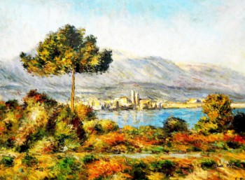 "Claude Monet - View Of Antibes From The Notre Dame 32X44 "" Oil Painting"