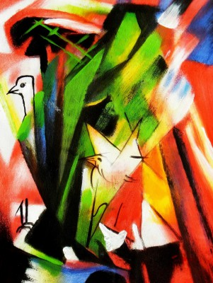 "Franz Marc - Birds 12X16 "" Oil Painting"