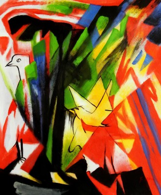 "Franz Marc - Birds 20X24 "" Oil Painting"