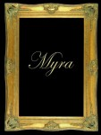 "5"" DOUBLE BARRELLED ANTIQUE GOLD (SWEPT) FRAME ""MYRA"""