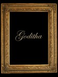 2  GOLD DECORATIVE (SWEPT) FRAME  GODITHA  FLUTED DESIGN