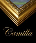 3  BESPOKE EMBOSSED GOLD FRAME  CAMILLA