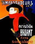 ARISTIDE BRUANT - MAN WITH RED SCARF  20X24   OIL PAINTING REPRODUCTION