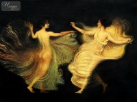 FRANZ VON STUCK - THE DANCERS  36X48   OIL PAINTING IN MUSEUM QUALITY