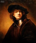 REMBRANDT - SELF-PORTRAIT AS A YOUNG MAN  20X24   REPRODUCTION OIL PAINTING MUSEUM QUALITY