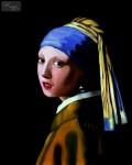 THE GIRL WITH A PEARL EARRING 16X20   REPRODUCTION OIL PAINTING