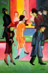 "ERNST LUDWIG KIRCHNER - AT THE BARBERSHOP  24X36 "" REPRODUCTION OIL PAINTING"