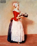 JEAN ETIENNE LIOTARD - THE CHOCOLATE GIRL  16X20   OIL PAINTING MUSEUM QUALITY