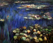 CLAUDE MONET - WATER LILIES IN THE SPRING  16X20   OIL PAINTING