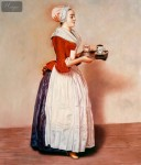 JEAN ETIENNE LIOTARD - THE CHOCOLATE GIRL  20X24   OIL PAINTING MUSEUM QUALITY