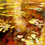 CLAUDE MONET - WATER LILIES IN SUMMER  32X32   OIL PAINTING