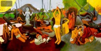 PAUL GAUGUIN - WHERE DO WE COME FROM 24X48   OIL PAINTING