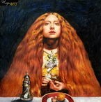 "EVERETT MILLAIS THE BRIDESMAID 24X24"" OIL PAINTING – image 2"