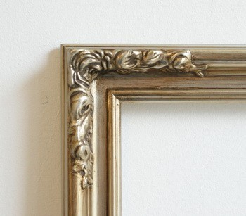 "2"" SILVER /PEWTER ORNATE DECORATIVE (SWEPT) FRAME ""MIRANDA""  – image 2"