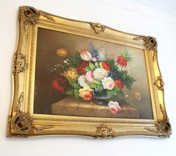 "5"" DOUBLE BARRELLED ANTIQUE GOLD (SWEPT) FRAME ""MYRA""  – image 2"