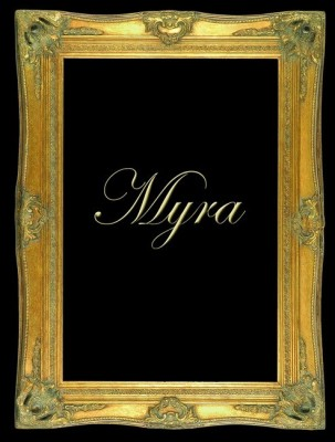 "5"" DOUBLE BARRELLED ANTIQUE GOLD (SWEPT) FRAME ""MYRA""  – image 1"
