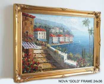 "3"" ANTIQUE GOLD (SWEPT) FRAME ""NOVA""  – image 2"