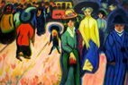 "ERNST LUDWIG KIRCHNER THE STREET 24X36"" OIL PAINTING – image 2"