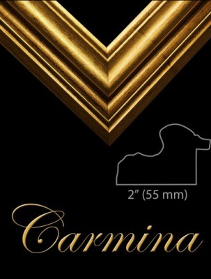 "2"" GOLD FRAME REVERSE SHAPED ""CARMINA""  – image 1"